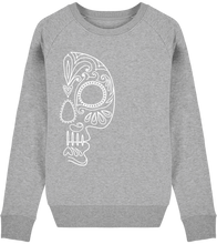 Load image into Gallery viewer, FOLQ Grey Sweatshirt White Folklore Skull