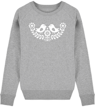 Load image into Gallery viewer, FOLQ Grey Sweatshirt inspired by Scandinavian Folklore