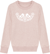 Load image into Gallery viewer, FOLQ Kids' Pink Sweatshirt White Folklore Birds