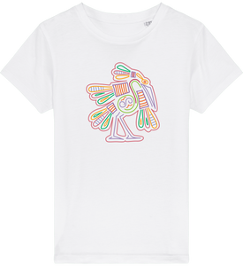 FOLQ Kids' T-shirt from organic cotton with colourful Mexican Bird design