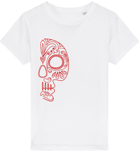 Load image into Gallery viewer, FOLQ Kids' Red Folklore Skull T-shirt