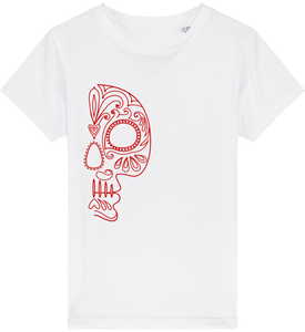 FOLQ Kids' Red Folklore Skull T-shirt