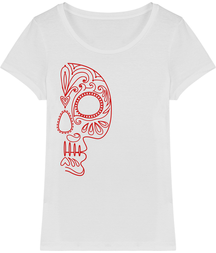 FOLQ Women's T-shirt Red Folklore Skull