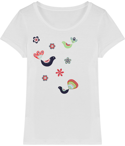 FOLQ T-Shirt from organic cotton with fantasy like print