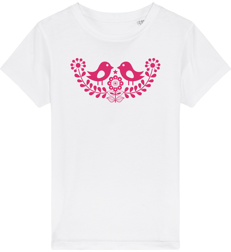 FOLQ Kids' White T-shirt Folklore Birds