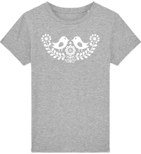 Load image into Gallery viewer, FOLQ Kids' Grey T-shirt Folklore Birds