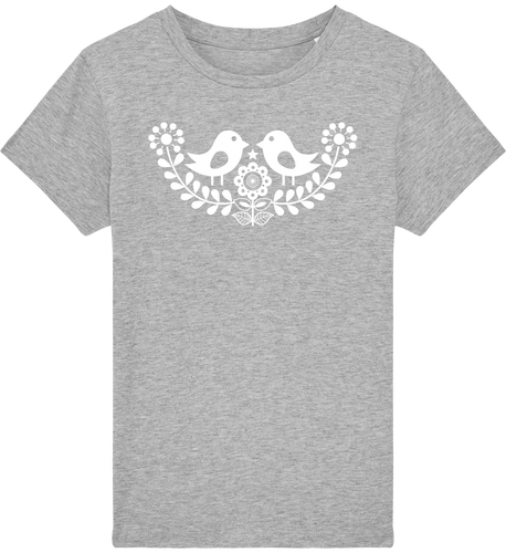 FOLQ Kids' Grey T-shirt Folklore Birds