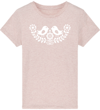 Load image into Gallery viewer, FOLQ Kids' Pink T-shirt Folklore Birds