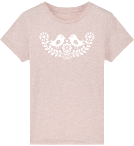 FOLQ Kids' Pink T-shirt Folklore Birds