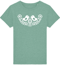 Load image into Gallery viewer, FOLQ Kids' Green T-shirt Folklore Birds