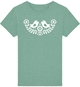 FOLQ Kids' Green T-shirt Folklore Birds