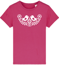 Load image into Gallery viewer, FOLQ Kids' Fuchsia T-shirt Folklore Birds