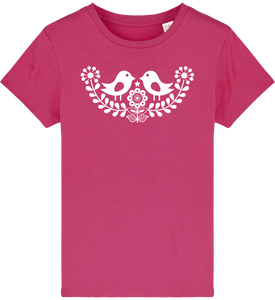 FOLQ Kids' Fuchsia T-shirt Folklore Birds