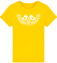 Load image into Gallery viewer, FOLQ Kids' Yellow T-shirt Folklore Birds