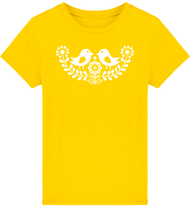 FOLQ Kids' Yellow T-shirt Folklore Birds