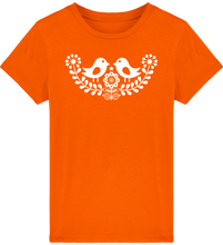 Load image into Gallery viewer, FOLQ Kids' Orange T-shirt Folklore Birds