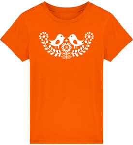 FOLQ Kids' Orange T-shirt Folklore Birds