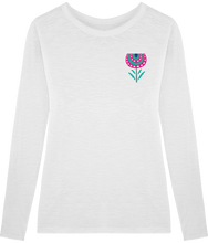 Load image into Gallery viewer, FOLQ Fantasy Peony T-Shirt Long Sleeve White
