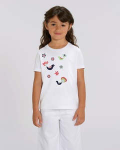 FOLQ Kids' T-shirt from organic cotton with colourful, fantasy like print
