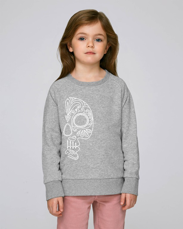 FOLQ Kids' Grey Sweatshirt White Folklore Skull