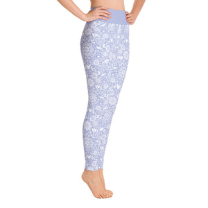 FOLQ Perfect Yoga Leggings Floral Violet