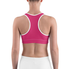 Load image into Gallery viewer, Sports Bra Mexican Bird Fuchsia