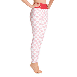 FOLQ Perfect Yoga Leggings Red Hearts