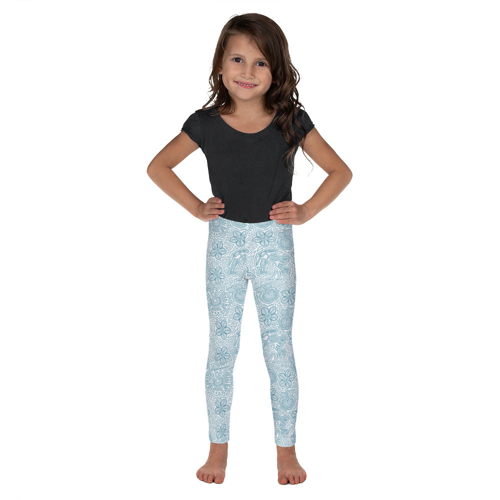 FOLQ Kids' Leggings Mexican Bird Turquoise