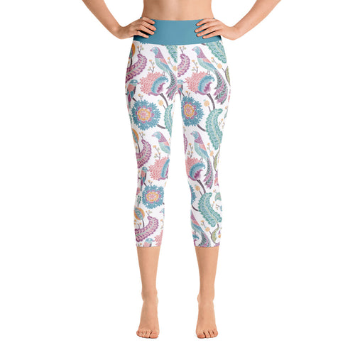 FOLQ Yoga Capri Leggings Paisley Multi