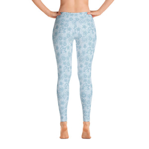Perfect Leggings Mexican Bird Turquoise