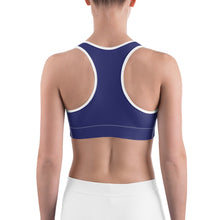 Load image into Gallery viewer, Sports Bra Paisley Cobalt Blue