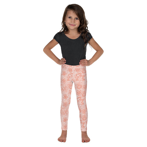 FOLQ Kids' Leggings Mexican Bird Orange