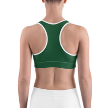 Load image into Gallery viewer, Sports Bra Skull Forest Green