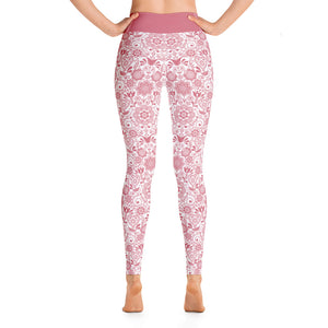 Perfect Yoga Leggings Floral Pink