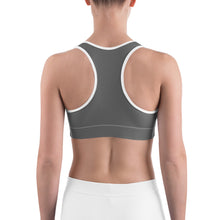 Load image into Gallery viewer, Sports Bra Skull Grey
