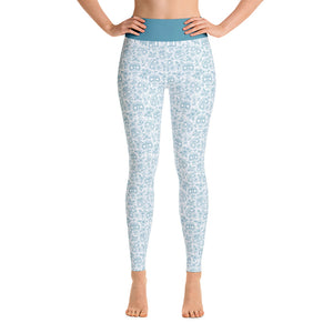 FOLQ Perfect Yoga Leggings Skull Turquoise