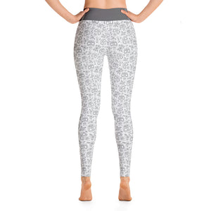 FOLQ Perfect Yoga Leggings Skull Grey