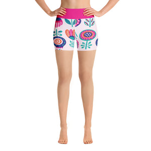 FOLQ Yoga Short Leggings Fantasy Peony