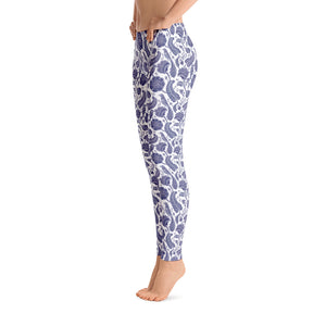 Perfect Leggings Paisley Cobalt Blue
