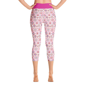 Yoga Capri Leggings Silk Road Multi