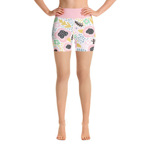 Yoga Short Leggings Fantasy Pink Poppy