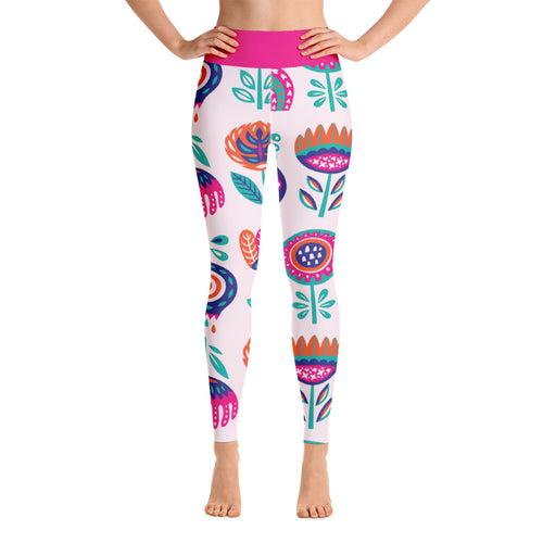 FOLQ Perfect Yoga Leggings Fantasy Peony
