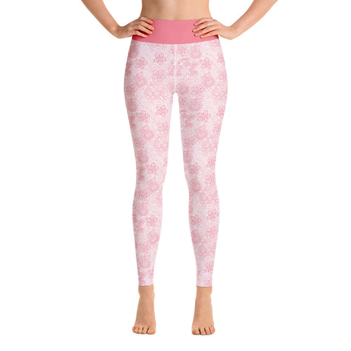 Perfect Yoga Leggings Mexican Bird Pink
