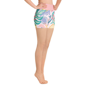 Yoga Short Leggings Fantasy Tropical