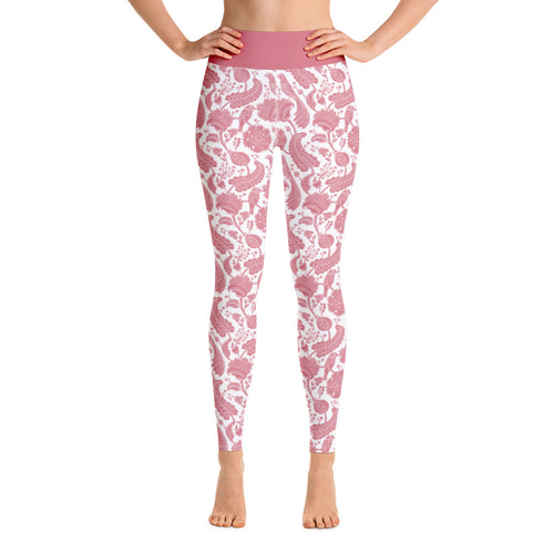 Perfect Yoga Leggings Paisley Pink