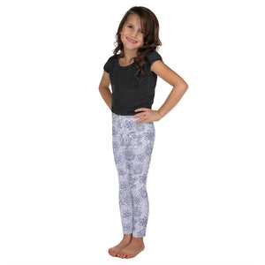 Kids' Leggings Mexican Bird Cobalt Blue