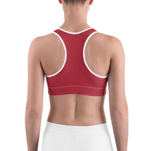 Load image into Gallery viewer, Sports Bra Skull Ruby