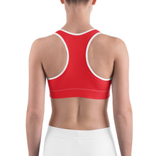 Load image into Gallery viewer, Sports Bra Skull Red