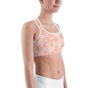 Sports Bra Mexican Bird Orange