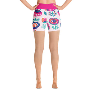 Yoga Short Leggings Fantasy Peony